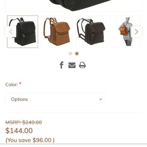 Le Donne leather collection backpack
